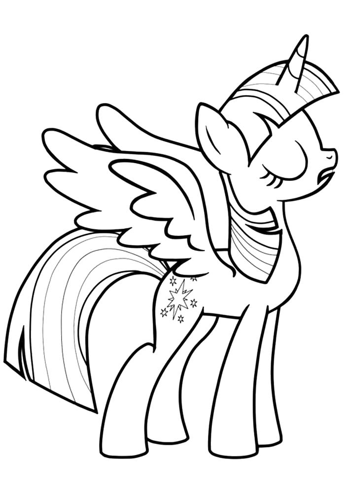 Раскраска  Искорка. Скачать Пони.  Распечатать Пони