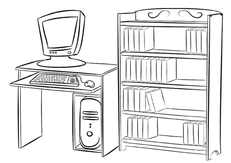 """Раскраска  """"мебель"""" скачать и распечатать бесплатно. Скачать .  Распечатать"""