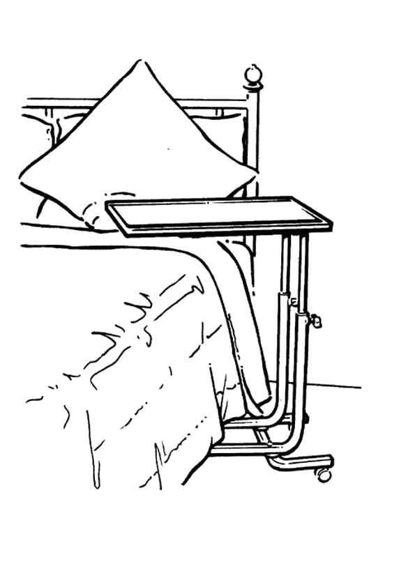 Раскраска Стол. . передвижной столик, столик на колесах. Скачать Стол.  Распечатать Стол