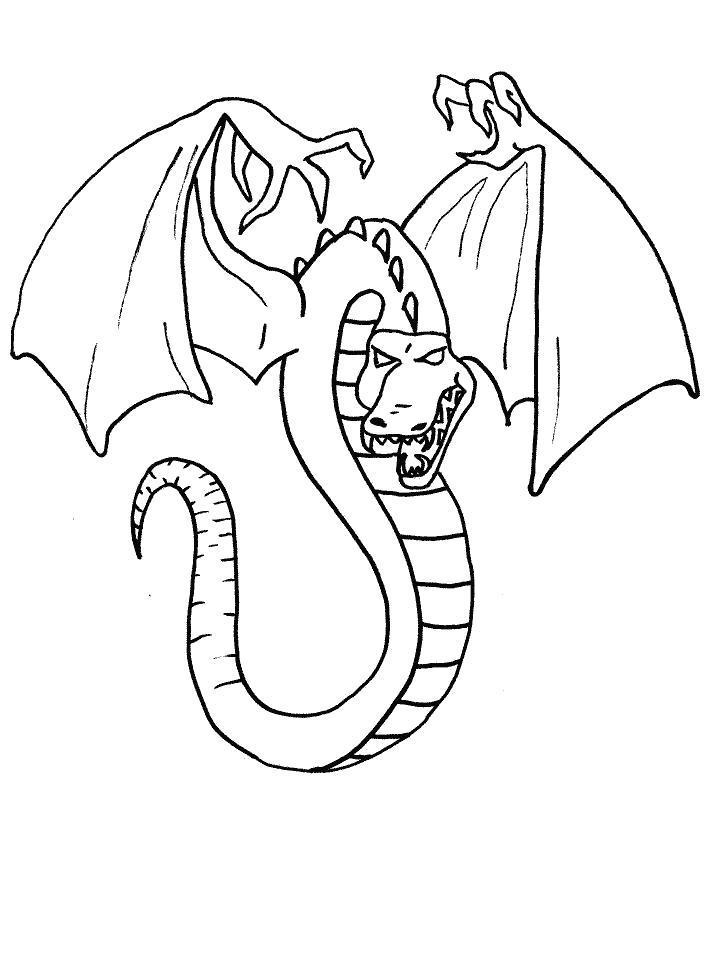 Раскраска  Дракон с пальцами. Скачать дракон.  Распечатать дракон