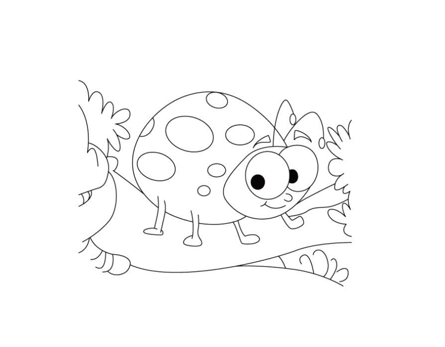 Раскраска Разукрашка божья коровка детская. Скачать Божья коровка.  Распечатать Божья коровка