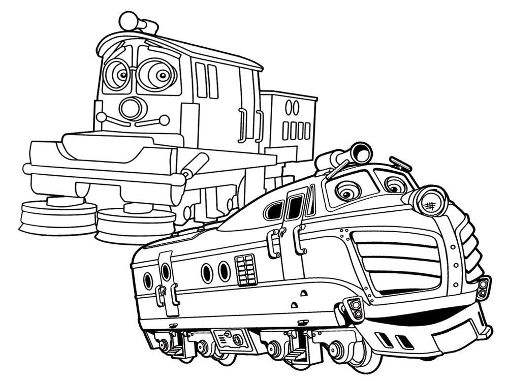 Раскраска Раскрашиваем черно-белые картинки с Чаггингтон  для детей. Скачать .  Распечатать