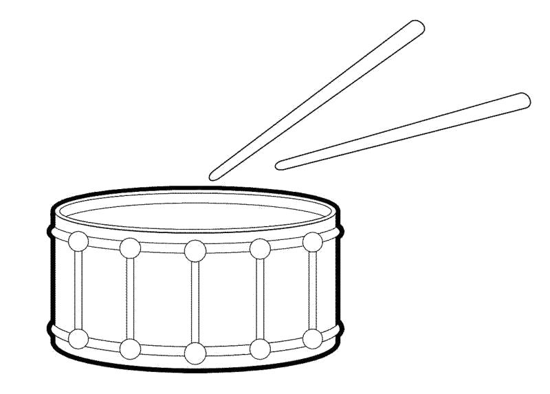 """Раскраска  """"барабан"""" скачать и распечатать бесплатно. Скачать Барабан.  Распечатать Барабан"""