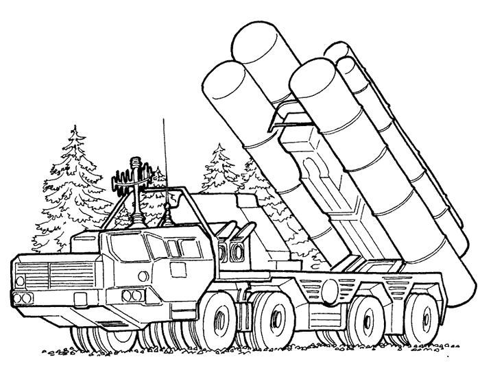 Раскраска ракетница. Скачать 23 февраля.  Распечатать 23 февраля