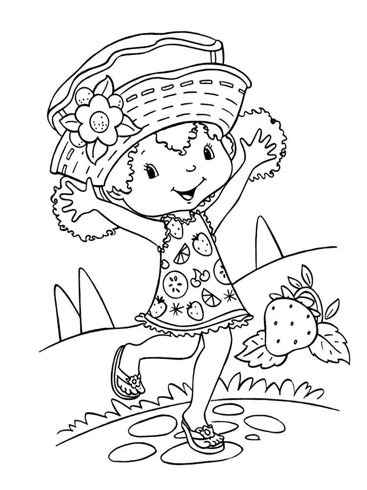 Раскраска  с Шарлоттой Земляничкой для самых маленьких. Скачать .  Распечатать