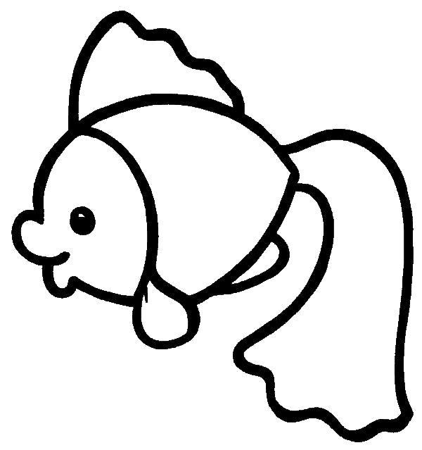 Раскраска Рыбка. Скачать .  Распечатать