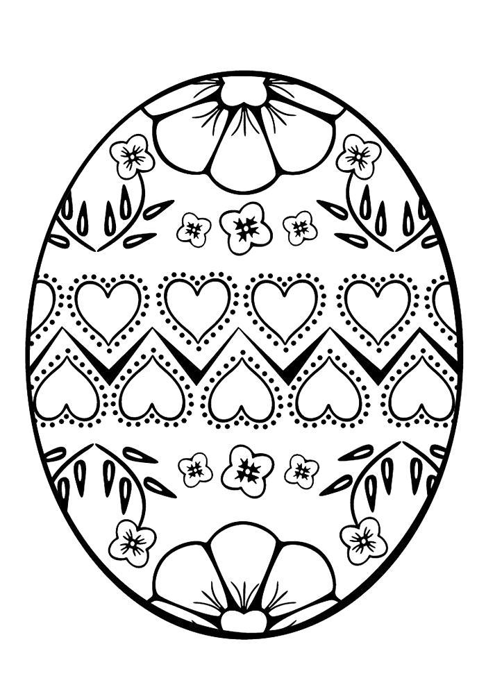 Раскраска Пасха яйца . Скачать Пасха.  Распечатать Пасха