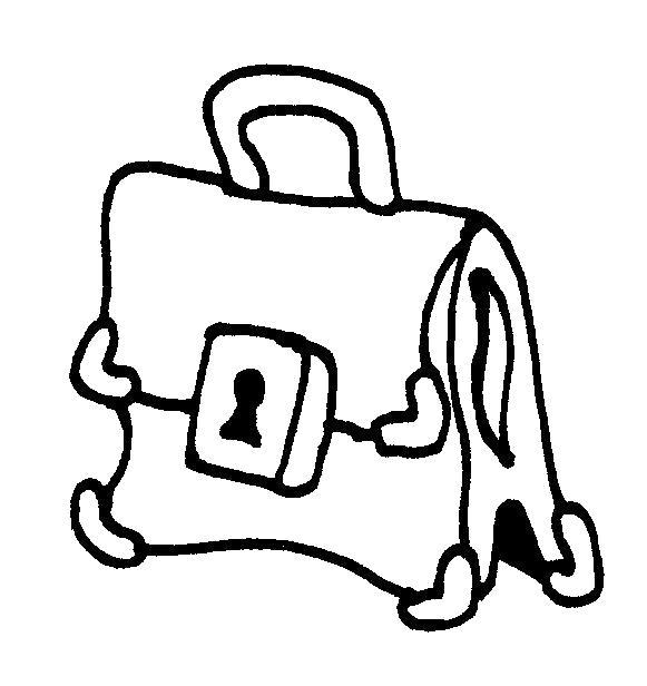 Раскраска Школьный портфель. Скачать .  Распечатать