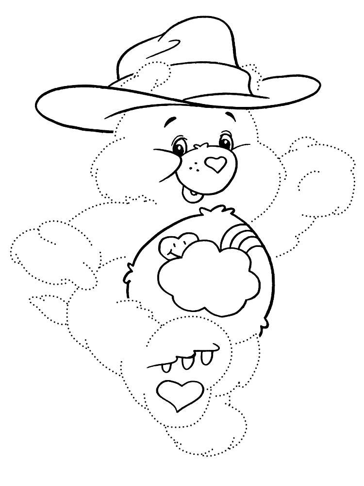 Раскраска Нарисовать по точкам и раскрасить заботливые мишки. Скачать по точкам.  Распечатать по точкам