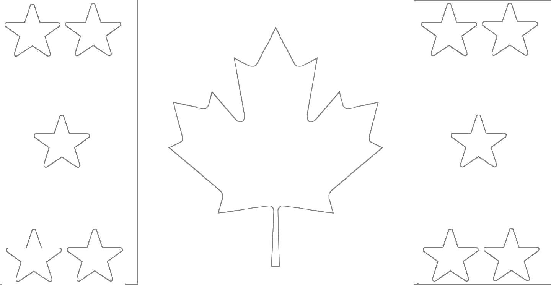 Раскраска канадский клен. Скачать лист.  Распечатать лист