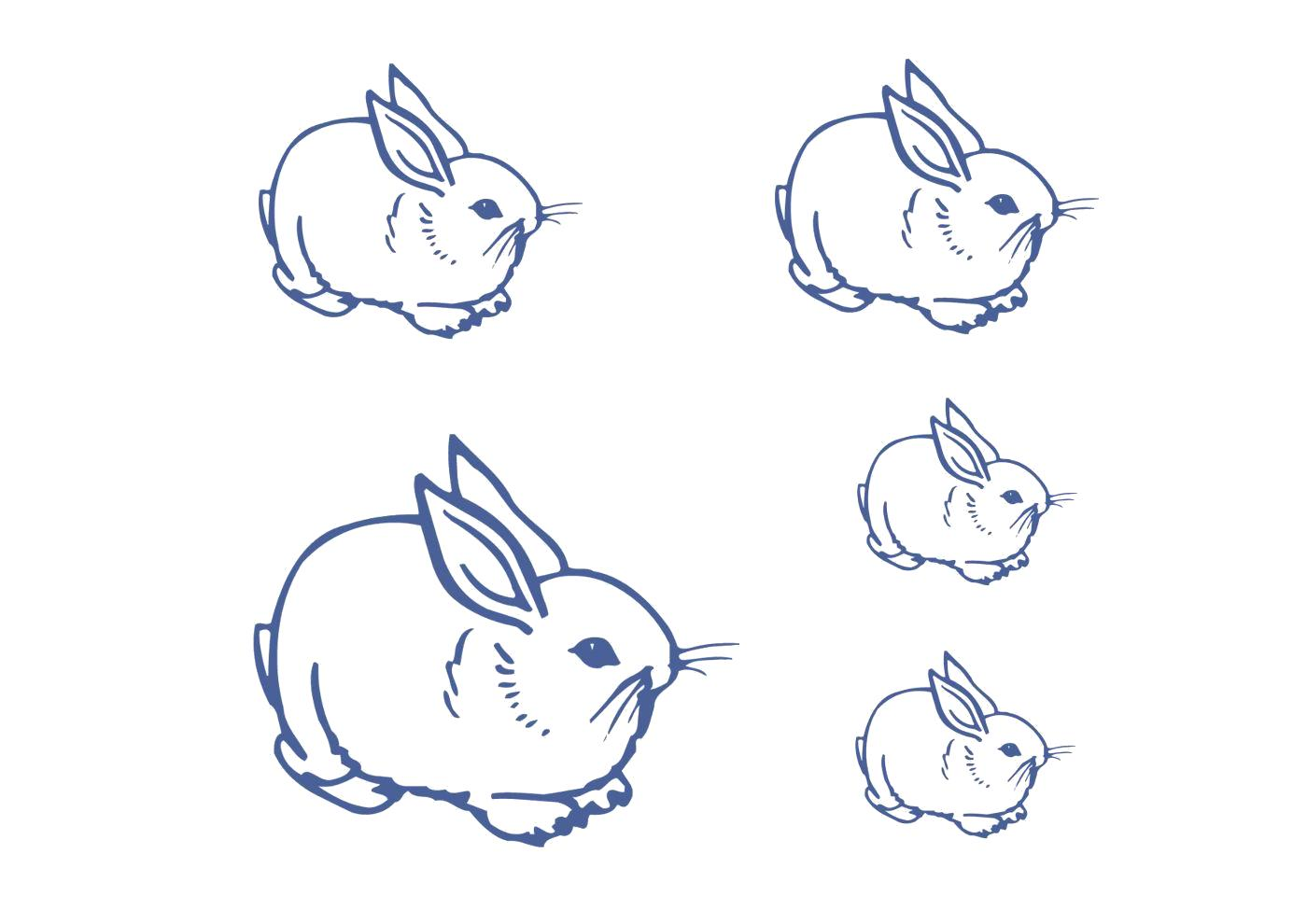 Раскраска Кролики клипарт. Скачать Кролик.  Распечатать Домашние животные