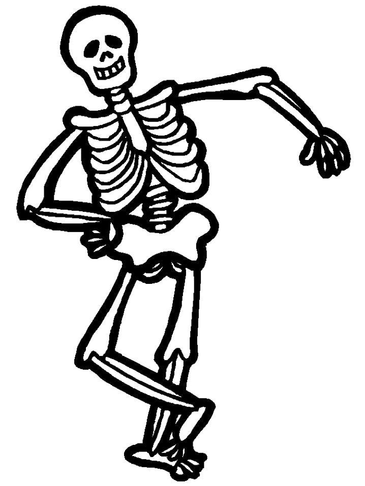 Раскраска Танцующий Скилет. Скачать .  Распечатать