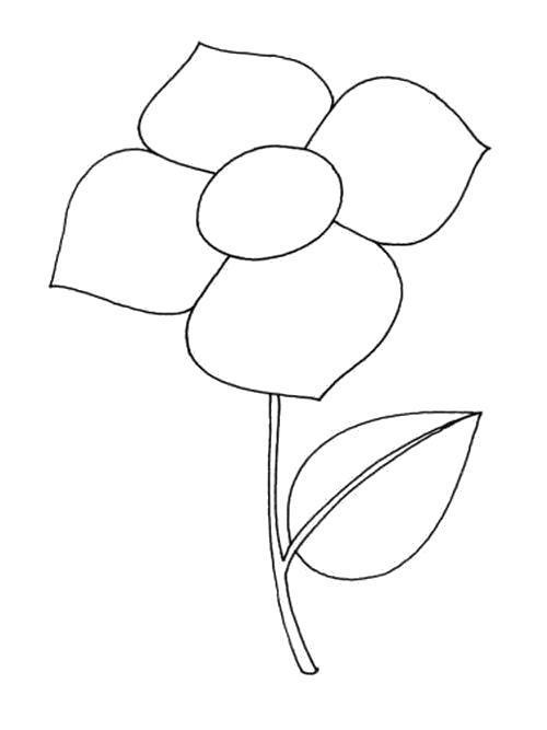 Раскраска  Четыре лепестка. Скачать Цветы.  Распечатать Цветы