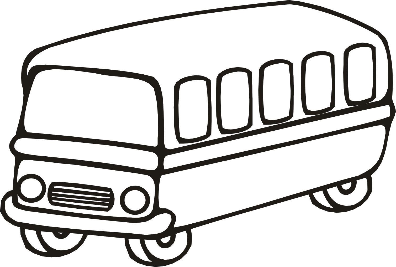 Раскраска  автобус для малышей. Скачать .  Распечатать