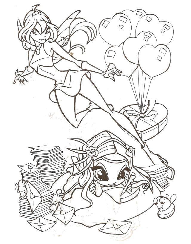 Раскраска  Куклы Мокси . Скачать мокси.  Распечатать мокси