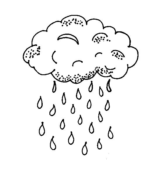 Раскраска Тучка. Скачать дождь.  Распечатать дождь