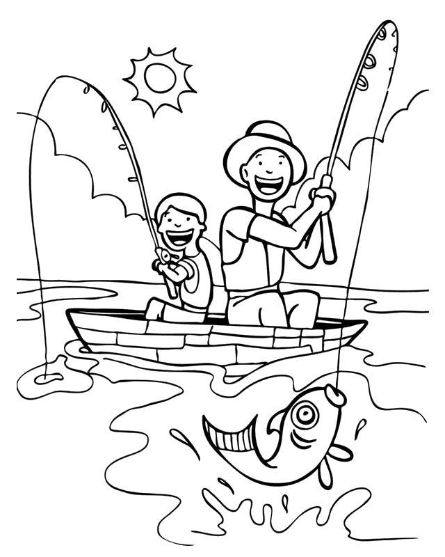 Раскраска золотая рыбка - картинки для  рыбка поймалась на рыбалке. Скачать рыба.  Распечатать Рыбы