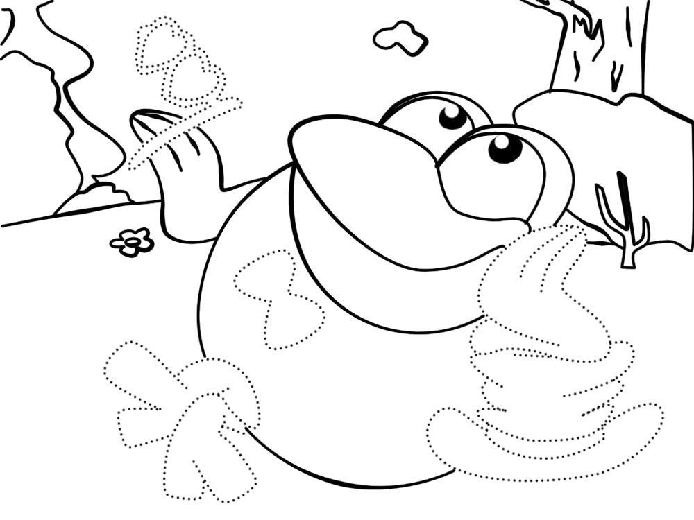 Раскраска Обвести по точкам и раскрасить красками картинки Кар-Карыч из Смешариков для детей. Скачать по точкам.  Распечатать по точкам