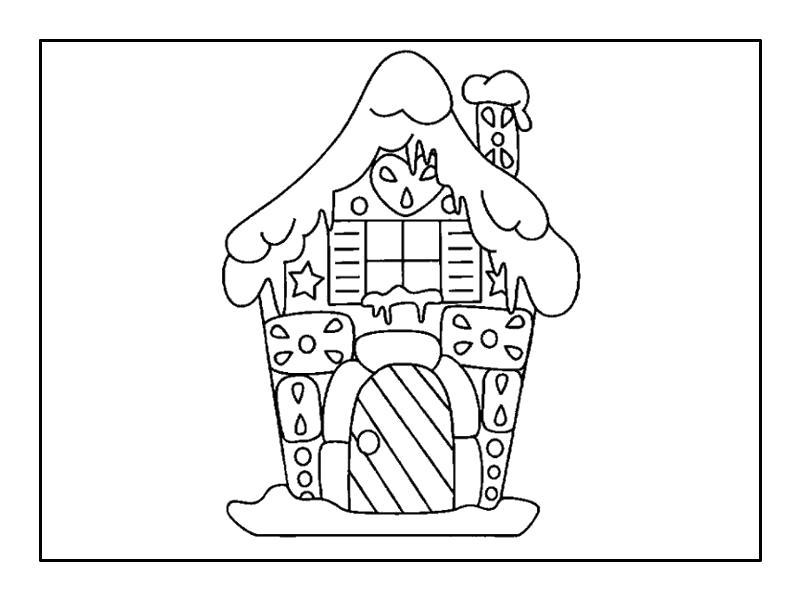 Раскраска  зимние домики,  зимние пейзажи,  домики,  домик. Скачать Дом.  Распечатать Дом