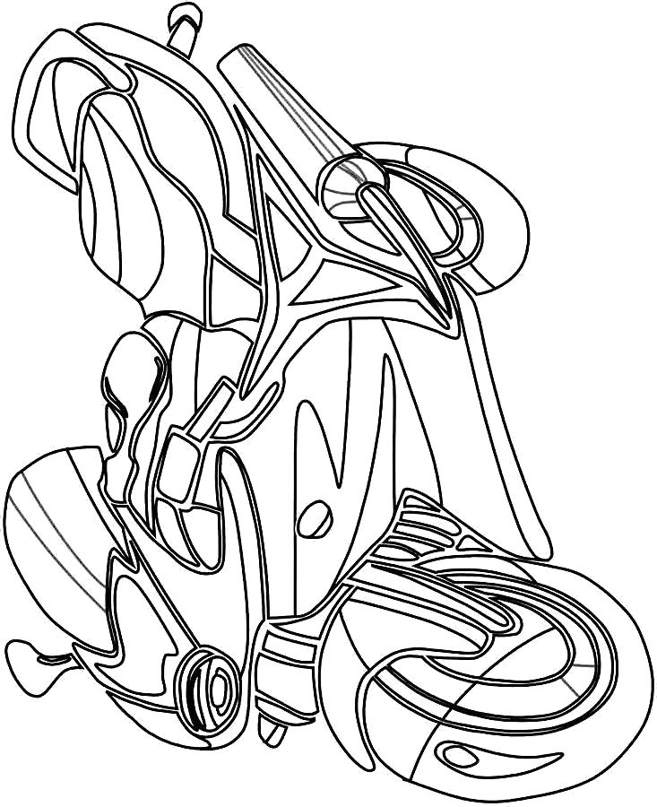 Раскраска Мотоцикл, скоростной мотоцикл. Скачать Мотоцикл.  Распечатать Мотоцикл