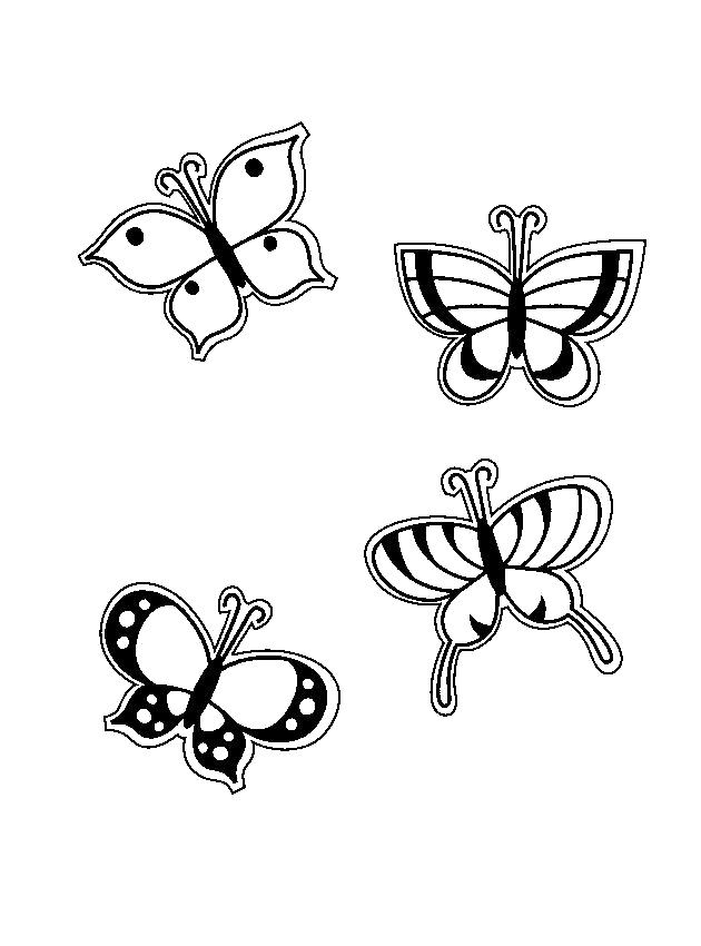 Раскраска красивые бабочки. Скачать Весна.  Распечатать Весна