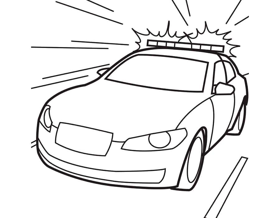 Раскраска  полицейские машины. Скачать Машины.  Распечатать Машины