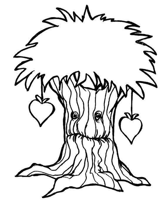 Раскраска Дерево леший. Скачать .  Распечатать