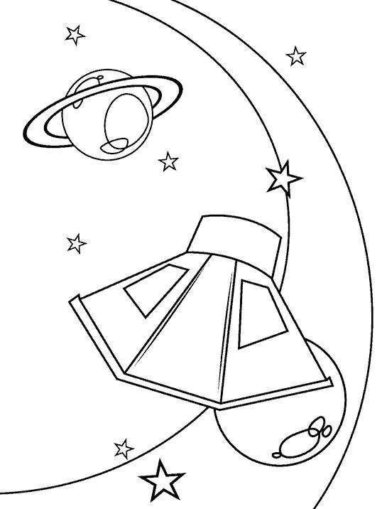 Раскраска Полеты в дальний космос. Скачать Планеты.  Распечатать Планеты