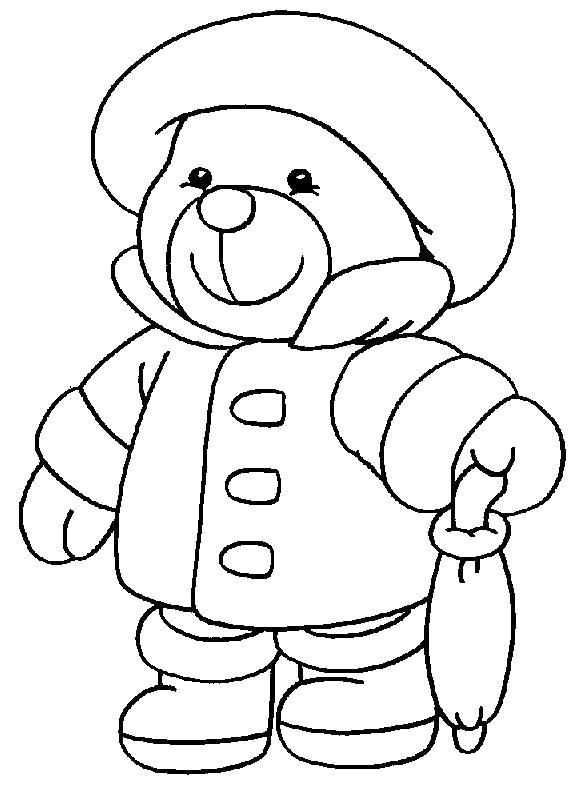 Раскраска  медвежат . Скачать Тедди.  Распечатать Тедди