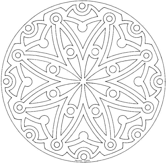 Раскраска Мандала узоры. Скачать узоры.  Распечатать узоры