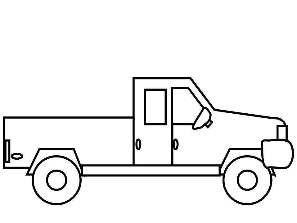 Название: Раскраска Раскраска Маленький пикап. Категория: Автомобиль. Теги: Автомобиль.