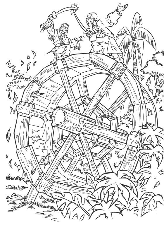 Раскраска Пираты Карибского моря. Скачать Пират.  Распечатать Пират