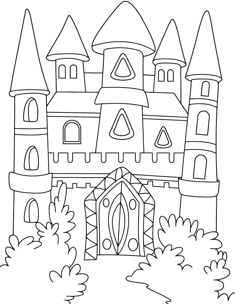 Раскраска Сказочный дом. Скачать Дом.  Распечатать Дом