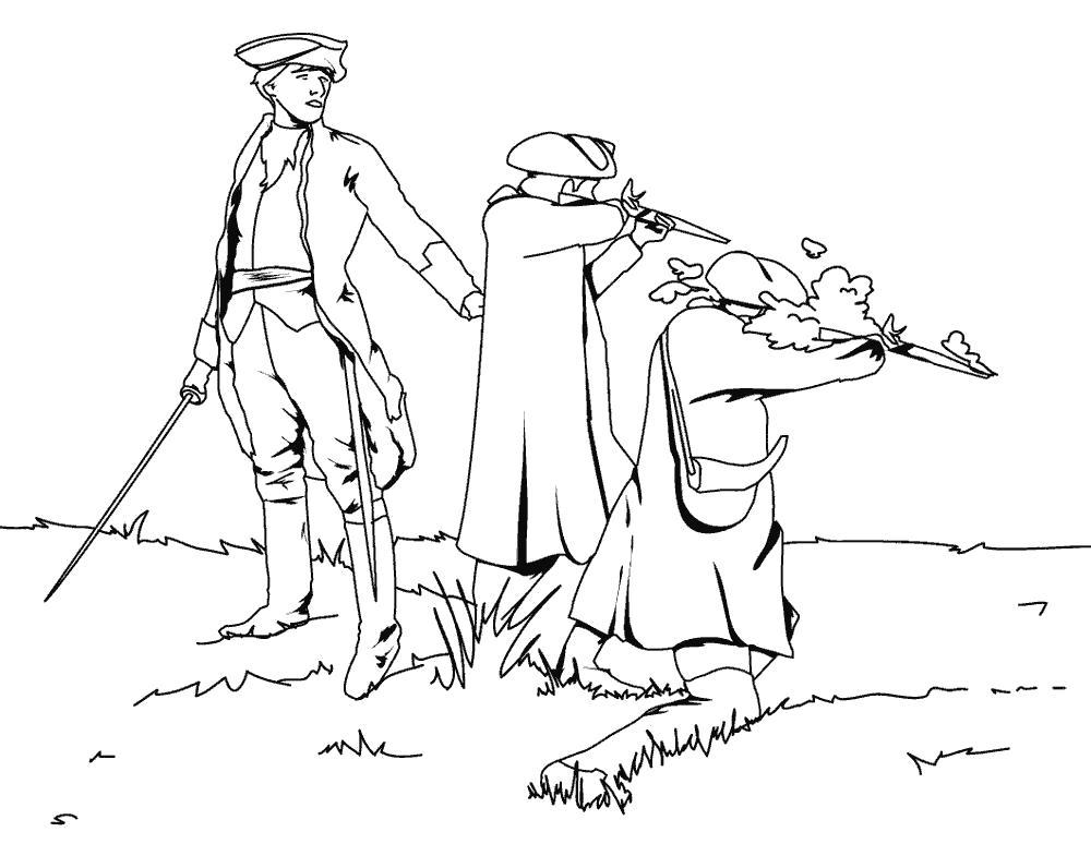 Раскраска Средневековая армия. Скачать Солдат.  Распечатать Солдат