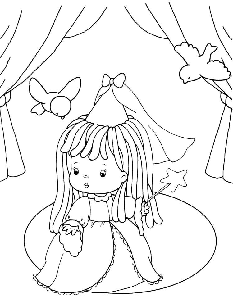 Раскраска Фея малышка. Скачать фея.  Распечатать мифические существа