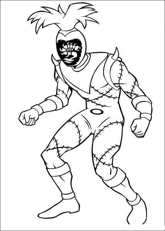 Раскраска  из мультфильма могучие рейнджеры. Скачать Могучие рейнджеры.  Распечатать Могучие рейнджеры
