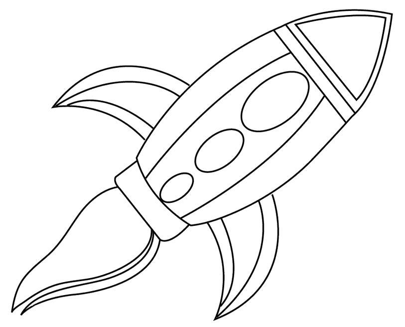 Раскраска рисунок ракеты . Скачать Ракета.  Распечатать Ракета