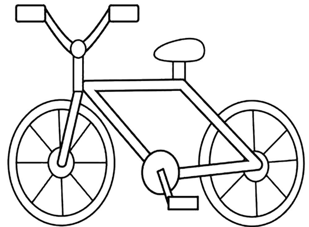 Раскраска Велосипед. Скачать Транспорт.  Распечатать Транспорт