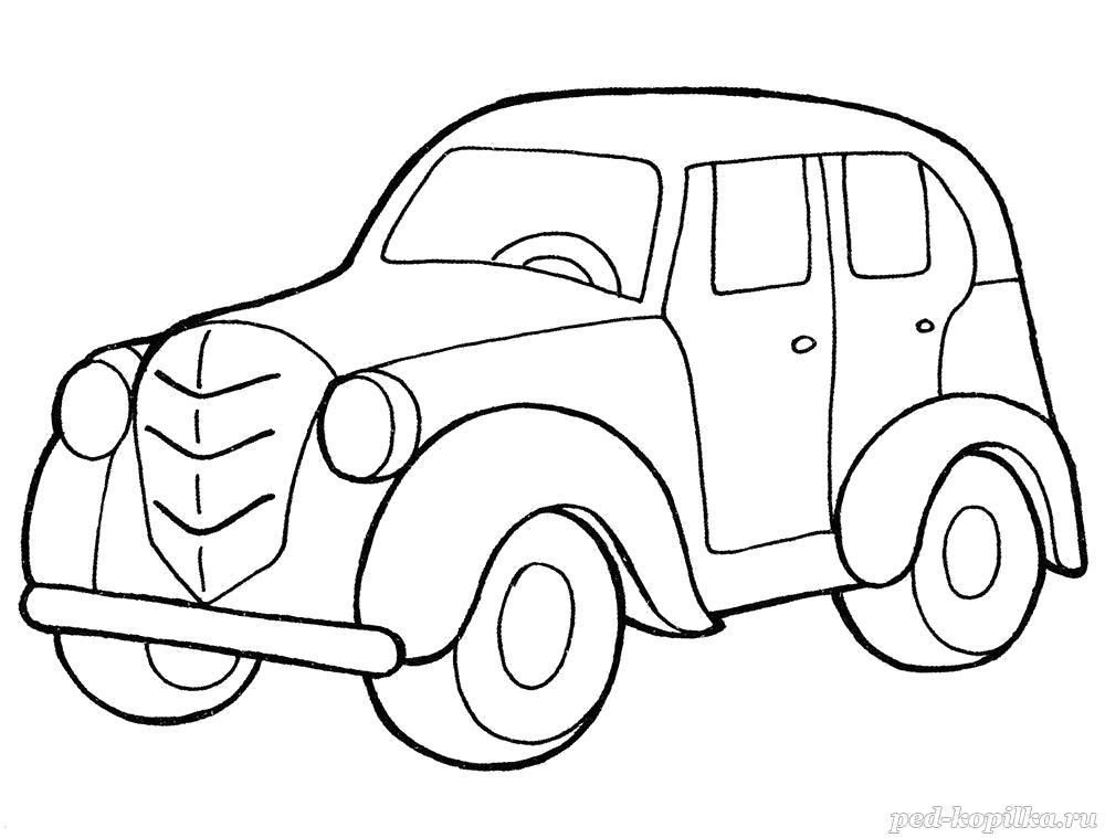 Раскраска  для детей. Ретро автомобиль. Скачать Автомобиль.  Распечатать Автомобиль