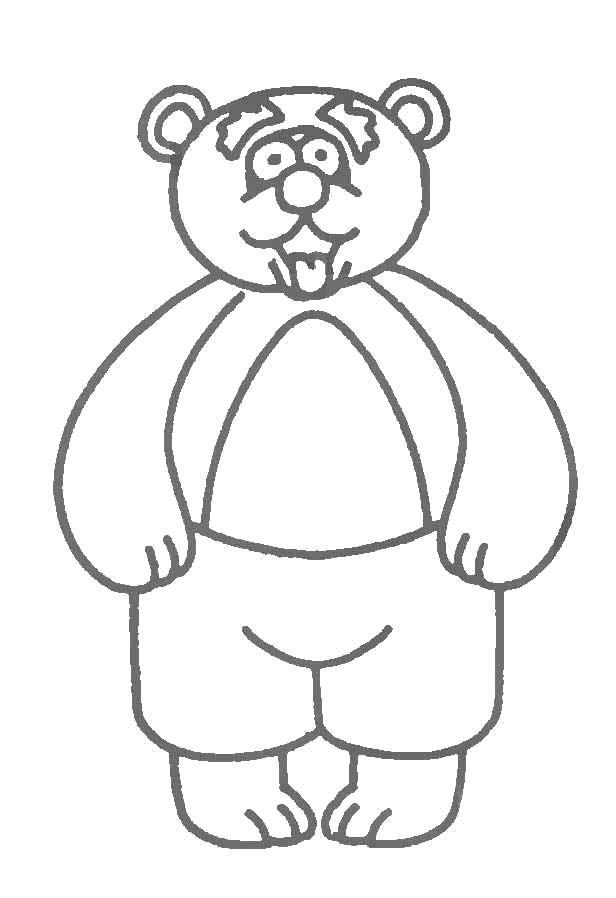 Раскраска Косолапый мишка. Скачать .  Распечатать