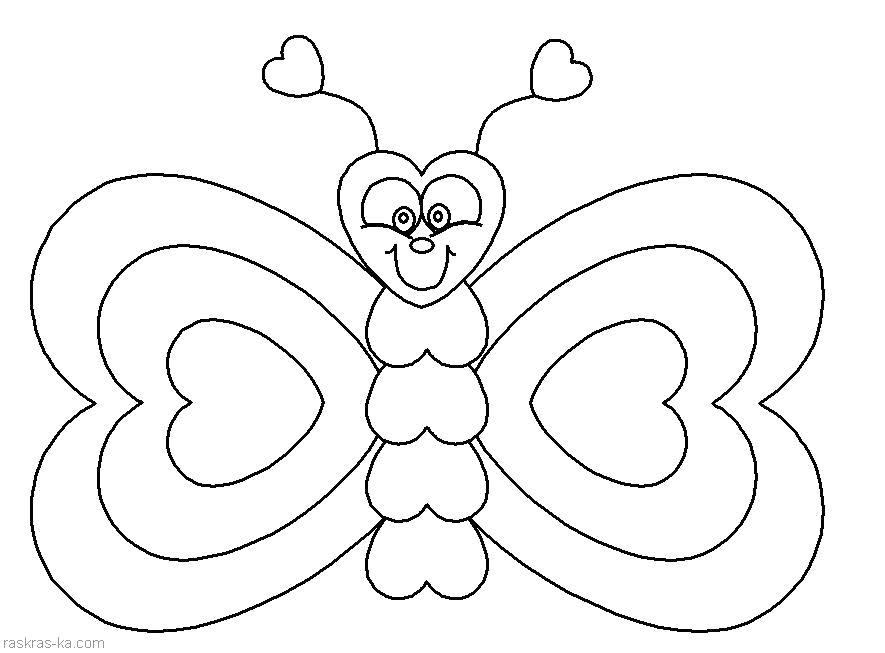 Раскраска бабочка с цветочками. Скачать Бабочки.  Распечатать Бабочки