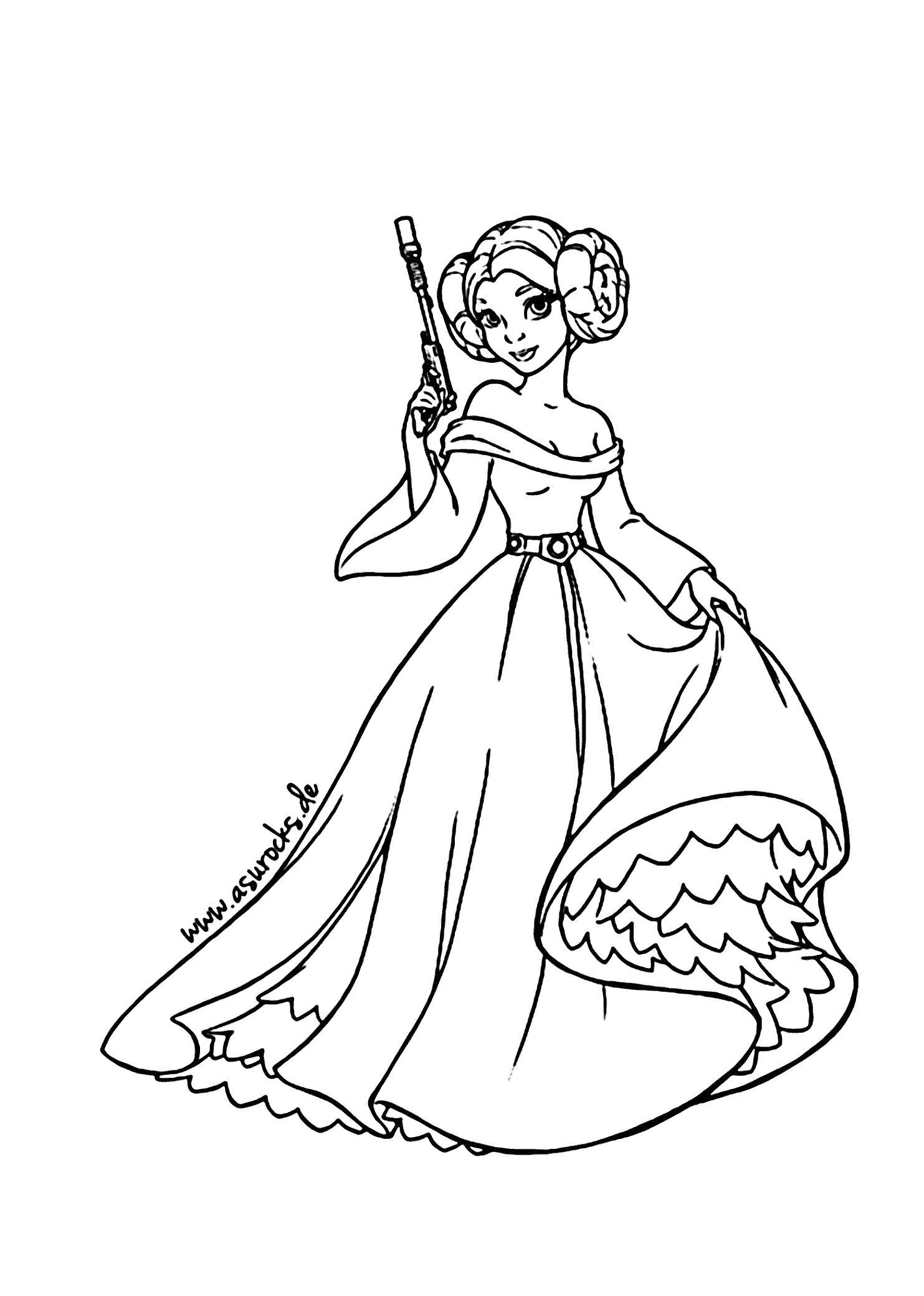 Раскраска Принцесса. Скачать принцесса.  Распечатать принцесса