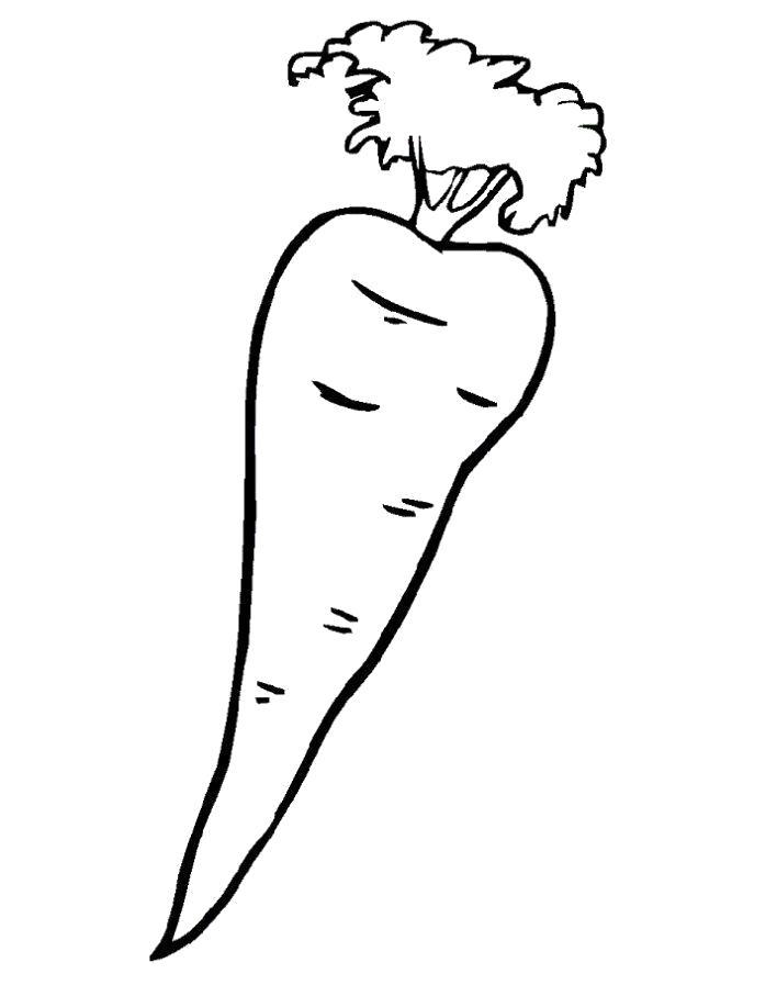 Раскраска  морковка ребенку. Скачать морковка.  Распечатать овощи