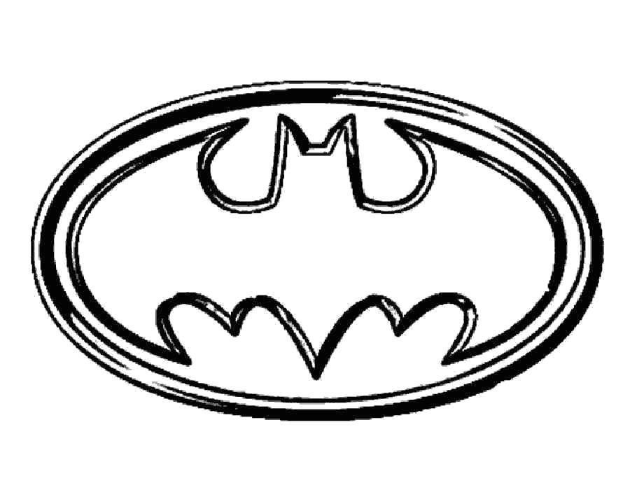 Раскраска Логотип Бэтмен. Скачать .  Распечатать