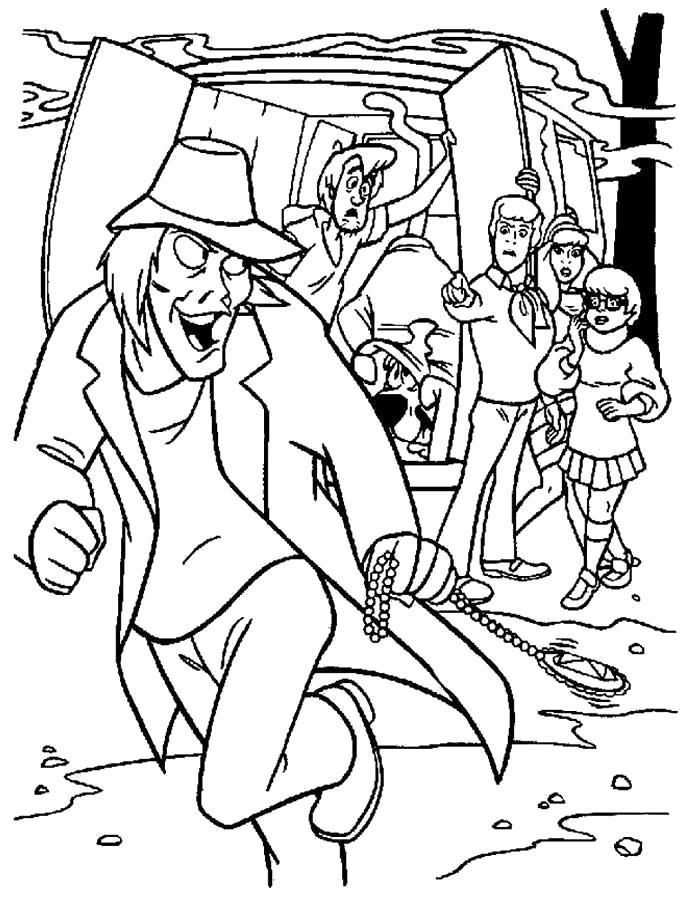 Раскраска Злодей из Скуби Ду. Скачать .  Распечатать
