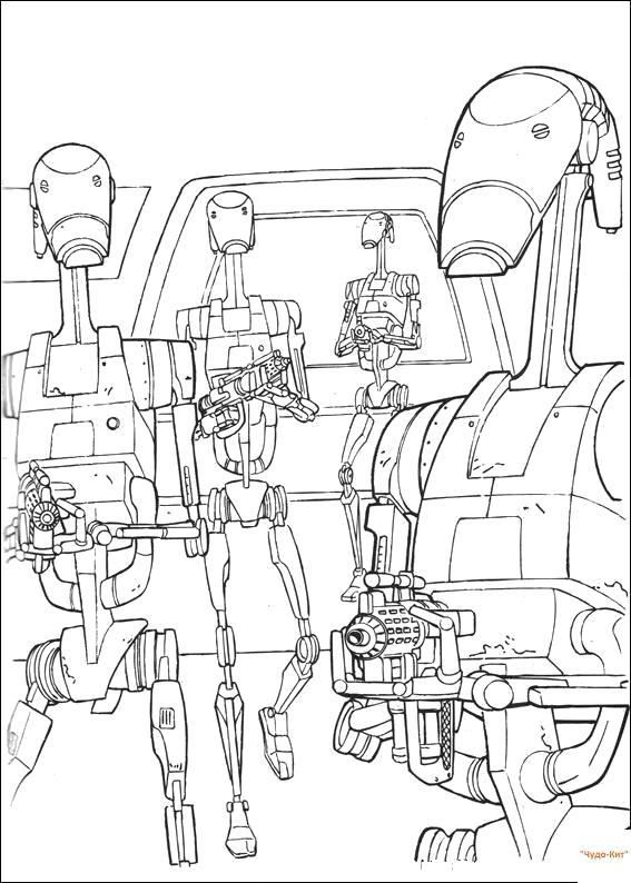 Раскраска Показать в оригинальном размере. Скачать Звездные войны.  Распечатать Звездные войны