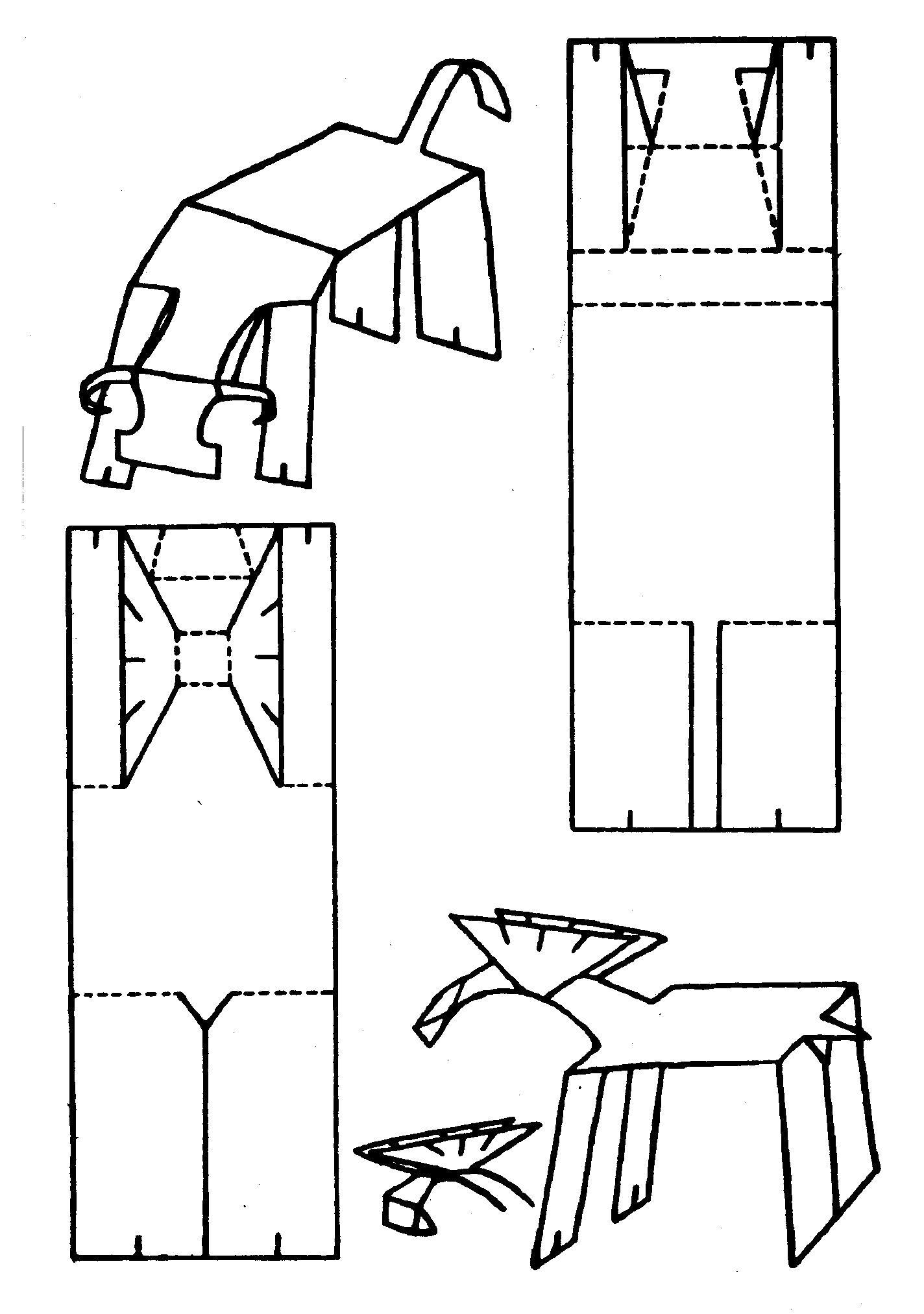 Раскраска Оригами для детей. Скачать оригами.  Распечатать оригами