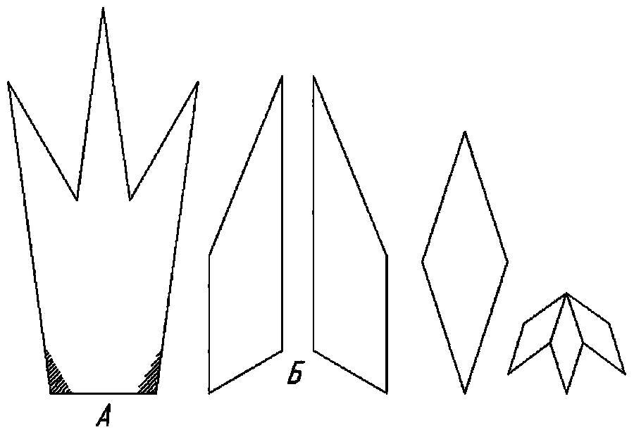 Раскраска  Корона  корона оригами для детей, шаблон из бумаги для вырезки. Скачать Шаблон.  Распечатать Шаблон