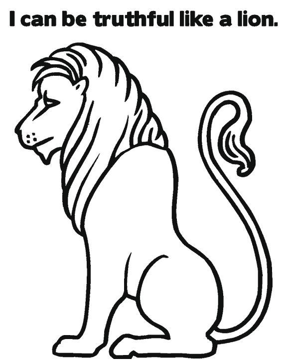 Раскраска лев для вырезания. Скачать Лев.  Распечатать Дикие животные