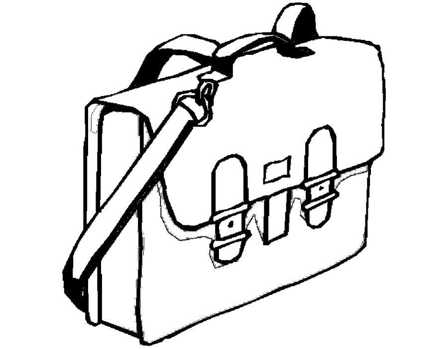 Раскраска школьная сумка. Скачать .  Распечатать